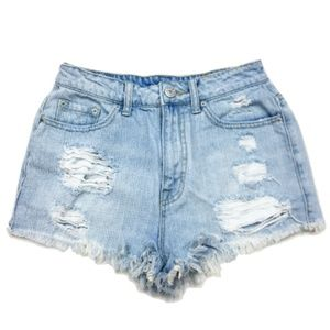 UO BDG Super High-Rise Cheeky Ripped Shorts
